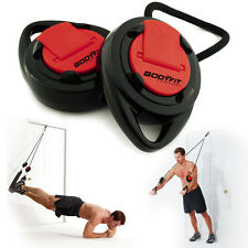 BodyFit Sports Authority Suspension Trainer Door Anchor Adjustable Straps DVD
