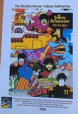 Unique Beatles Yellow Submarine A4 Colour Movie Poster + Songtrack/Lyrics