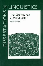 The Significance of Word Lists: Statistical Tests for Investigating Historical C