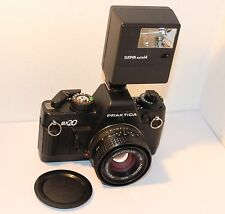 PRAKTICA BX-20, 35mm SLR with PB 50mm f1.8 LENS & FLASH, IN FULL WORKING ORDER .