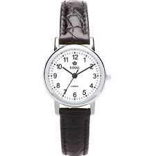 Royal London Ladies Classic Watch Black Leather Strap Stainless Steel case 20118