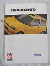1995 FIAT CINQUECENTO (SPORTING) BROCHURE Inc