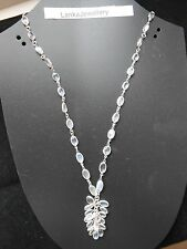 """Sterling Silver Blue Moonstone 18""""Chain Choker Necklace With Bunch (New) (6N/21)"""