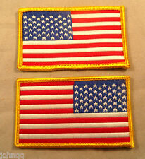 American Flag Embroidered Jacket / Shoulder Iron On Patches - Pair