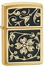 Zippo 20903 gold floural flush lighter
