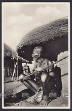 SOUTH AFRICA 04 MATABELE CHIEF - TRIBAL ETHNIC ETNIQUE REAL PHOTO Postcard 1934