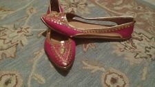 Moroccan Traditional pink and gold Slippers for Women, size 8M