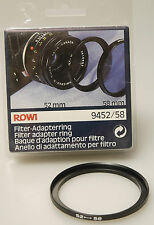 (PRL) ROWI ANELLO ADATTATORE FILTRO 52  -  58 mm FILTER ADAPTER RING ADAPTERRING