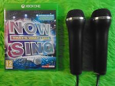 xbox one NOW THAT'S WHAT I CALL MUSIC SING + 2 Microphones Mics KARAOKE SINGING