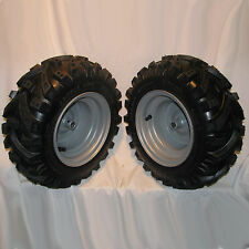 2) 16x6.50-8 Snapper Snow Blower Tiller TIRE RIM WHEEL ASSEMBLIES Left & Right