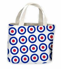 Mod Target Tote Shopping Bag For Life - Mods The who Jam Paul Weller