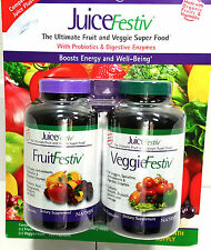Natrol JuiceFestiv Fruit Veggie Super Food 240 Capsules FruitFestiv Juice Festiv