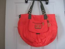 JUICY COUTURE - Elizabeth Weekender - Large Orange Nylon Purse w/ PINK Lining