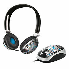 TRUST URBAN REVOLT 17629 FUTURE BREEZE HEADSET WITH MICROPHONE & MATCHING MOUSE