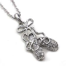 Cute Dancing Ballerina Dancer Ballet Dance Shoes Pendant Necklace Girl Charm v1