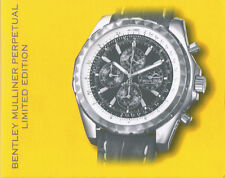 BREITLING BENTLEY MULLINER PERPETUAL LIMITED EDITION ANLEITUNG INSTRUCTIONS I480