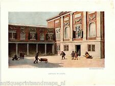 Antique litho print Lakenhal Leiden Holland print