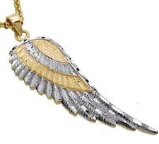 PENDENTIF En Argent 925 rhodié Aile/Ailes d'ange polissage diamanté,