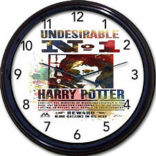 Harry Potter J K Rowlings Wanted Poster Wall Clock  Wizard Hogwarts London UK