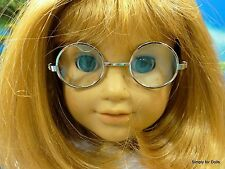 "SILVER Wire Rimmed DOLL EYE GLASSES fits 18"" AMERICAN GIRL Doll Clothes"