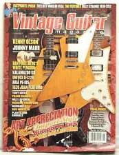 VINTAGE GUITAR MAGAZINE JOHNNY MARR KENNY OLSON ART APPRECIATION DOUG DOPPL