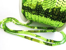 5 yard Single Sequin Link Ribbon Trim/Craft/dress/sparkly/bling R118-Apple Green