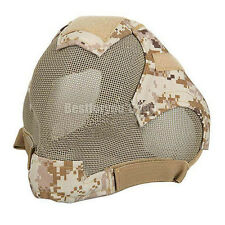 Airsoft Tactical Hunting Paintball Wire Mesh Full Face Protection Mask AOR1