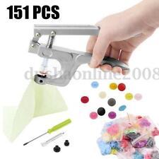 150Pcs Multi Couleurs KAM DIY Coloré Bouton Pression Plastique T5 12mm + Pince