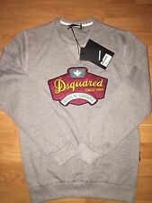 Men's 2016 BORN IN CANADA Genuine  Dsquared2 Jumper / Sweatshirt In GREY LARGE