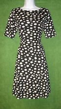 Anne Klein Black White Dot Crochet Fit&Flare Work Social Cocktail Dress 12 $129