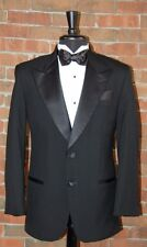 MENS 44 R BLACK 2 BUTTON PEAK TUXEDO  JACKET / PANT / SHIRT / BOW by AFTER SIX