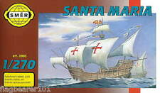SMER 905 - SANTA MARIA. SPANISH SHIP.  1:270 SCALE PLASTIC KIT.  152mm LONG