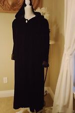 Beautiful Pantagis Velvet Ladies Long Dress Coat With satin lining hoodie Size L