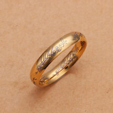 Stainless Steel Gold Tone Gold Band Lord Of The Ring Size 8 B102