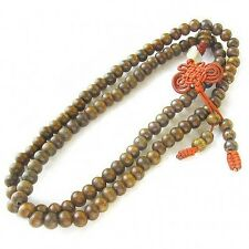 Fragrant Long Tibetan 108 8mm Green Sandalwood Prayer Beads Mala Necklace -32""