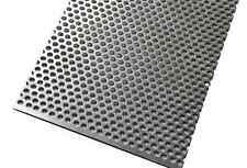 "3003 Aluminum Perforated Metal Sheet 24"" x 4"" Great for Car Grills, Mesh & Vents"