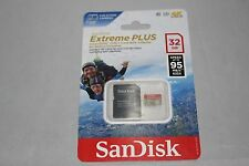 SanDisk Extreme Plus 32GB Micro SDHC SD 95MB/s 633x UHS-I with adapter FREE