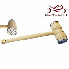 Meat Tenderizer Mallet Steak Schnitzel Chicken Pork Beach Wood Hammer Tenderiser