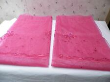 2 Panels Sheers Embroidered With Sequins Curtains With Attached Valance