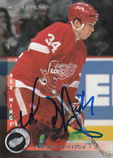 ANDERS ERIKSSON RED WINGS AUTOGRAPH AUTO 97-98 DONRUSS #174 *22367