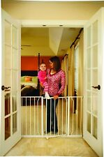 Super Wide Walk Thru Baby Child Toddler Pet Dog Safety Gate Door Hallway Stairs