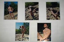 "Male Nude ""Sunbathing on the sand"" Original Artistic Photos, 10 Photos 5x7"