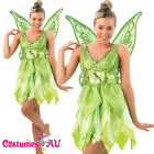 Ladies Rubies Deluxe Tinkerbell Disney Fairy Costume Peter Pan Fancy Dress WINGS