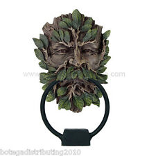Greenman Door Knocker Statue Ball Metal Ring Head Tocador de Puerta Hombre Verde