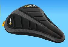 Velo Plush Bike Seat Cover Panini 171 - Black- Extra comfort Gel Padded Non-slip