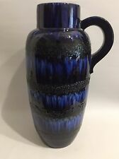 XL FAT LAVA Floor Vase Blau West Germany Pottery WGP Bodenvase Blue Scheurich?