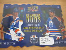 HOCKEY UPPER DECK  PROMO COUNTER POSTER  WAYNE GRETZKY MARC MESSIER