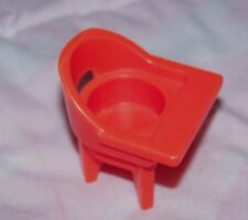 Fisher Price Little People orange color high chair - vintage