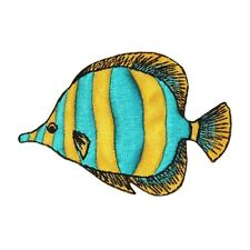 ID 0171 Tropical Fish Patch Swimming DIY Craft Iron On Applique