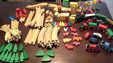 Huge Lot of Wooden Train Track 125 Pieces Thomas the Train Brio + More